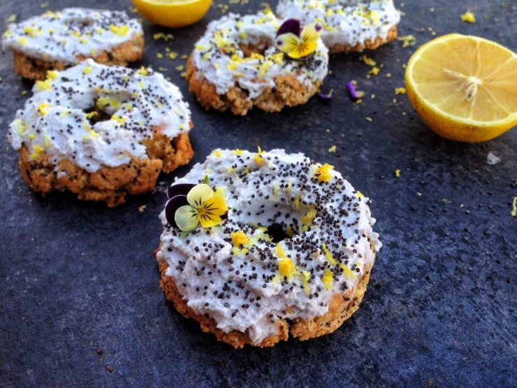 Lemon Poppyseed Vegan Donuts