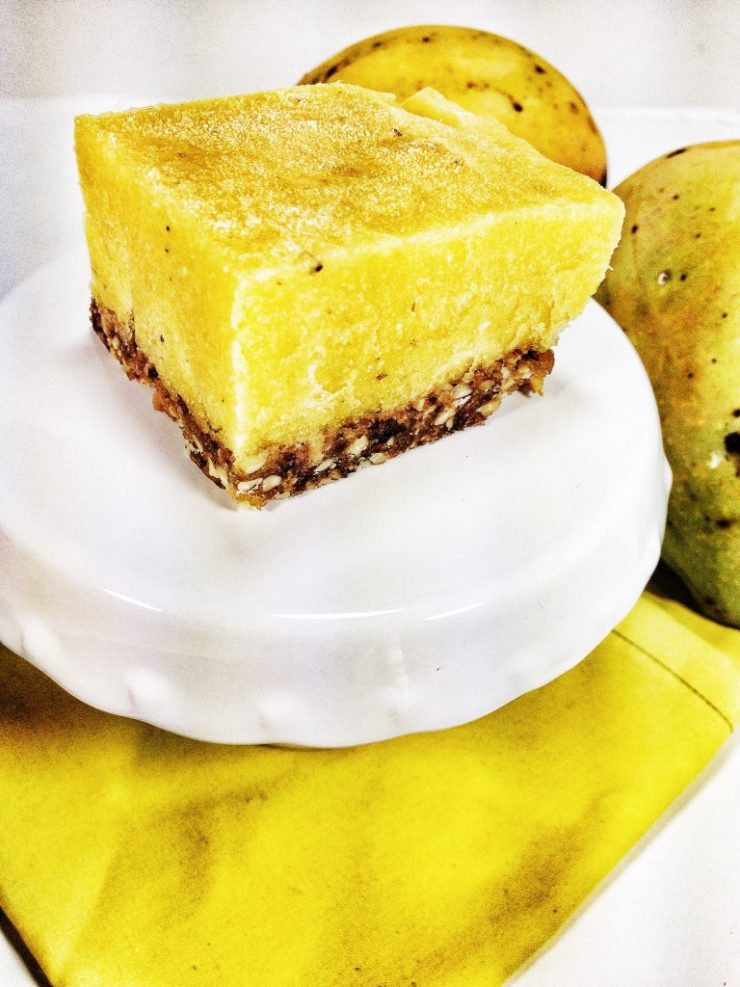 Raw Vegan Mango Cheesecake