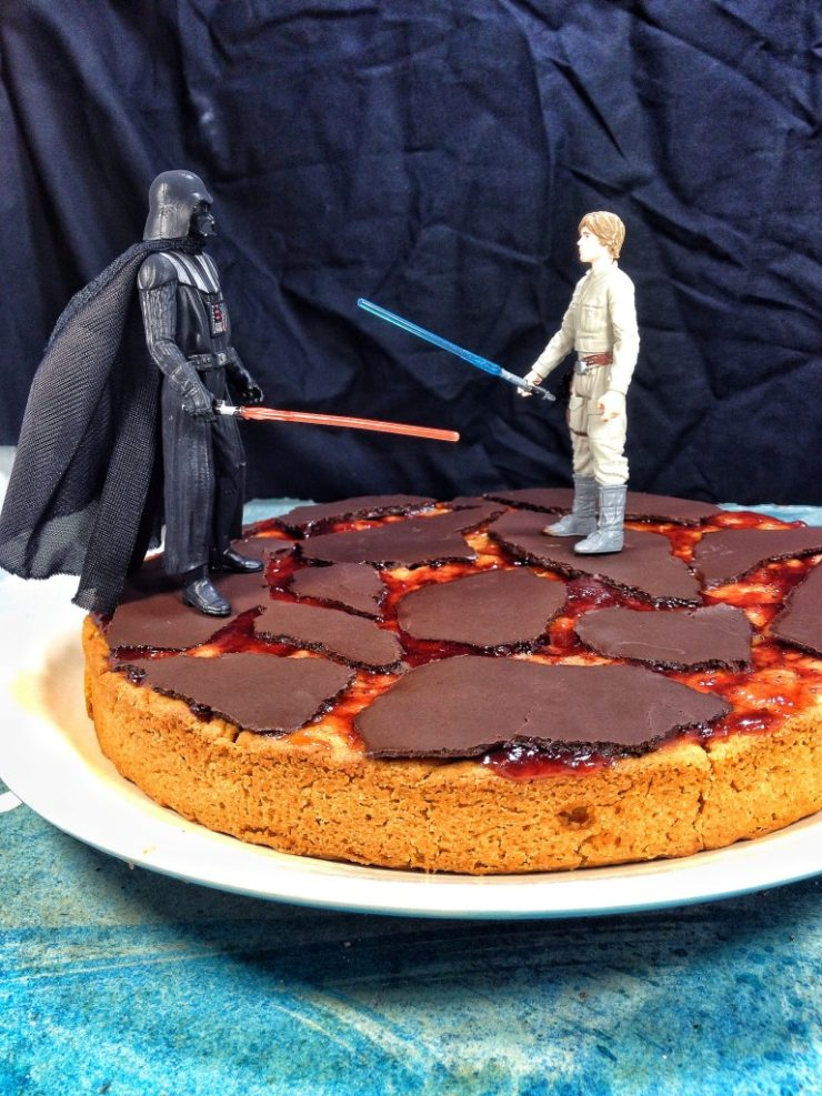 Vegan Caramel Mud Cake. Star Wars Birthday Cake.