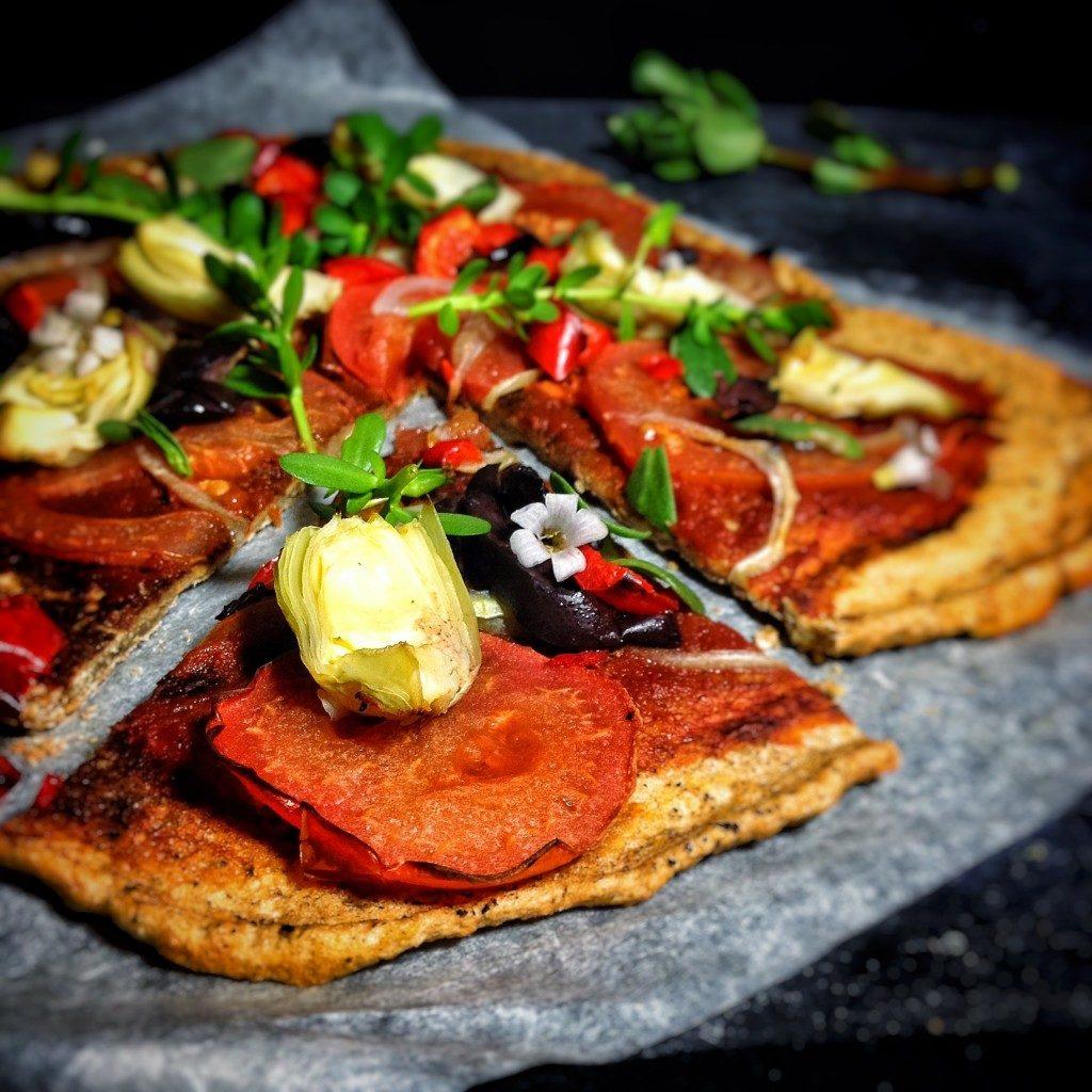 Vegan & gluten-free red lentil pizza crust