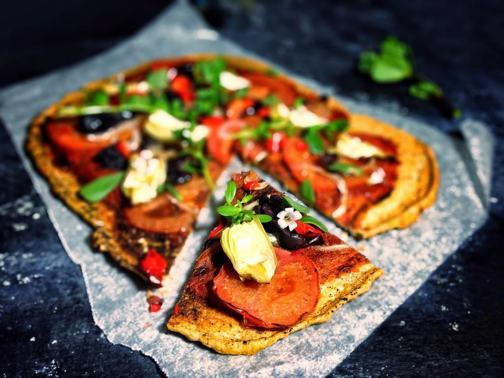 Lentil pizza crusts | gluten free, vegan