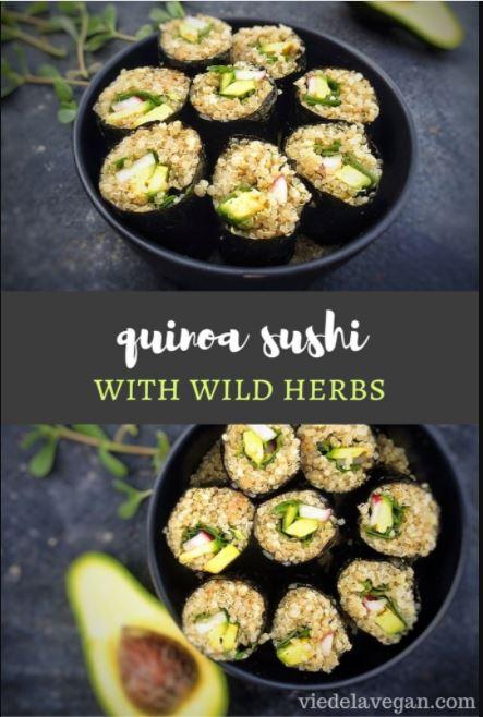 Wild Herb & Quinoa Sushi