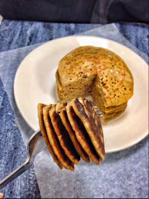 Carrot Cake Buckwheat Pancakes