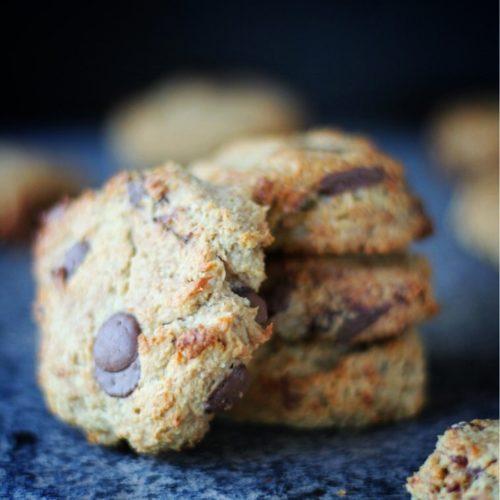 Banana Choc Chip Cookies | vegan, only 5 ingredients | viedelavegan.com