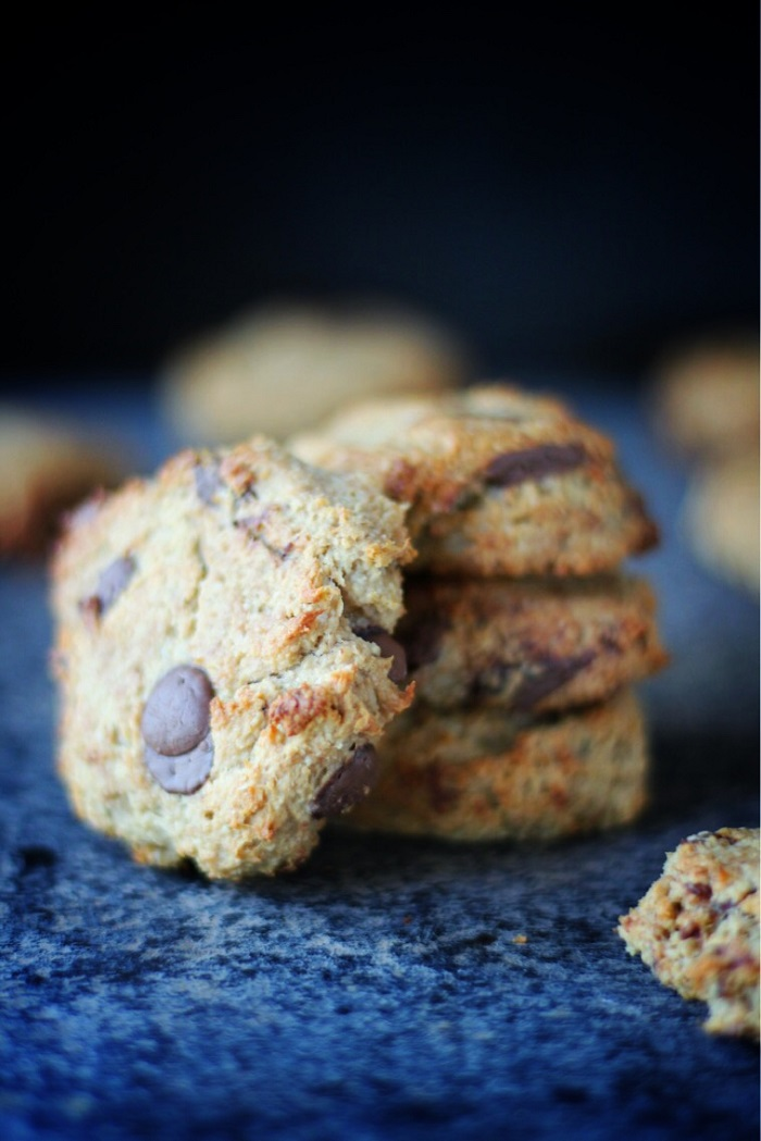 Banana Choc Chip Cookies | vegan, only 5 ingredients | viedelavegan.com