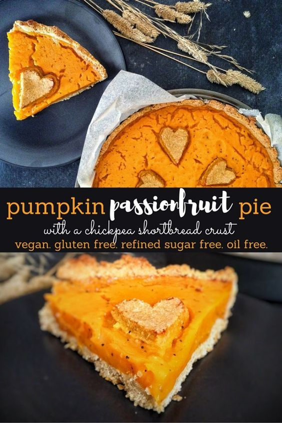 Passionfruit Pumpkin Pie & Chickpea Shortbread Crust