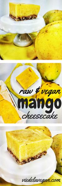Raw vegan mango cheesecake | Vie De La Vegan