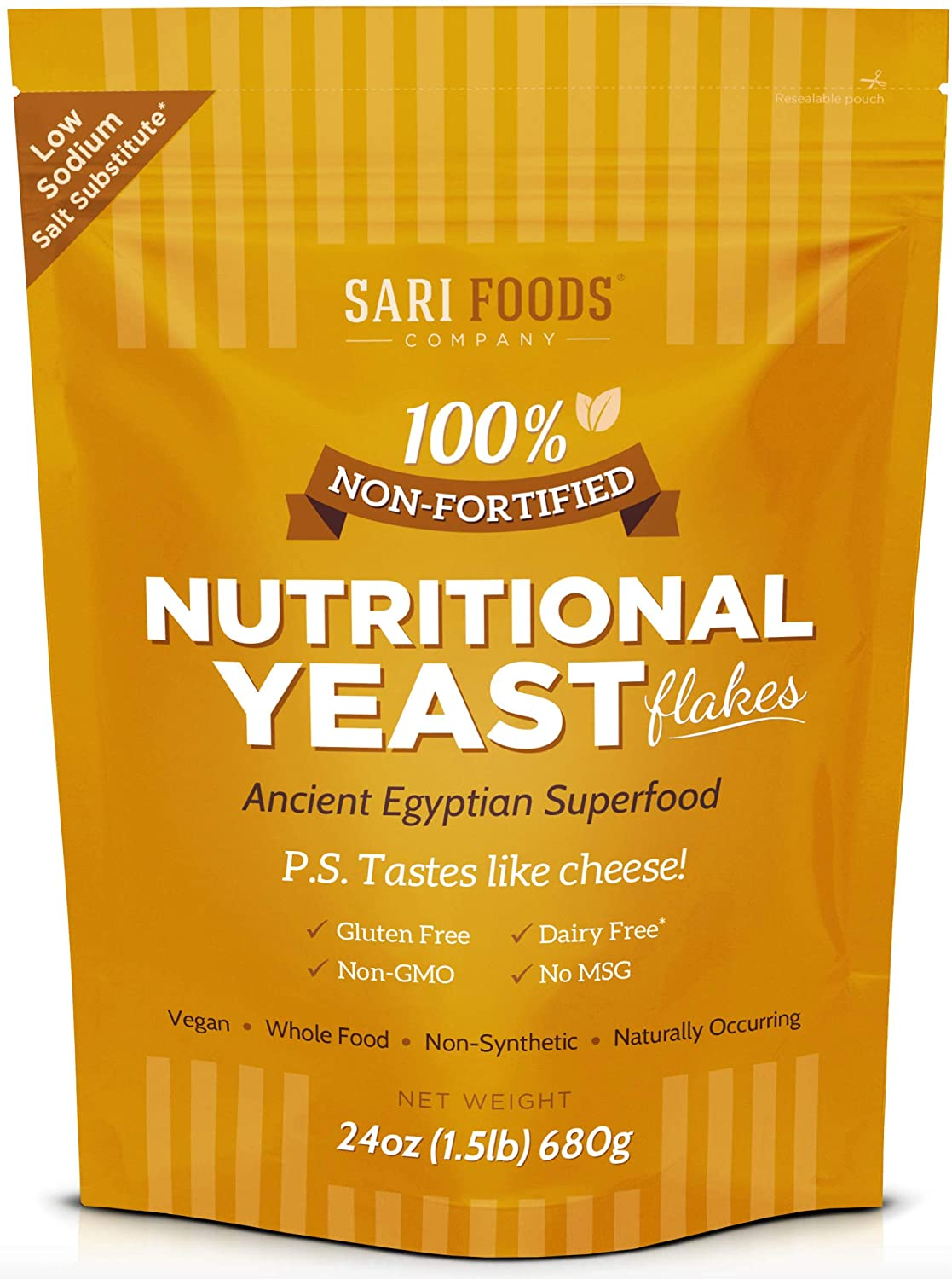 Sari's Natural Non-Fortified Nutritional Yeast