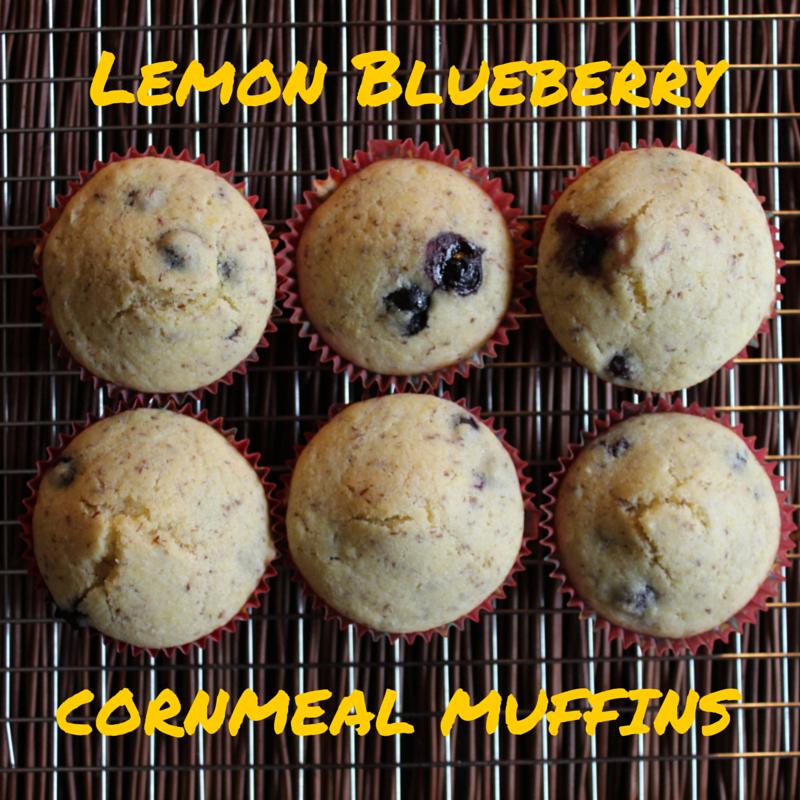 Lemon-Blueberry Cornmeal Muffins