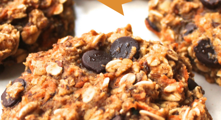 Healthy Carrot Cake Chocolate Chip Cookies
