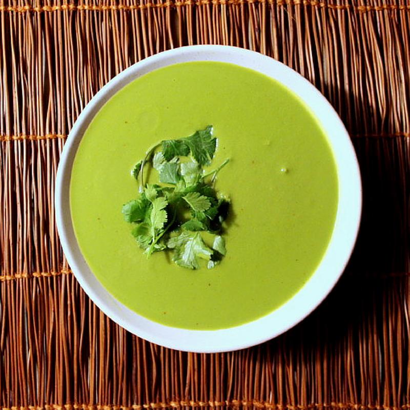 Cilantro Mushroom Soup
