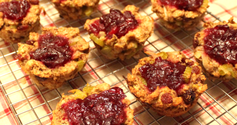 Cranberry-Stuffing Savoury Holiday Cupcakes