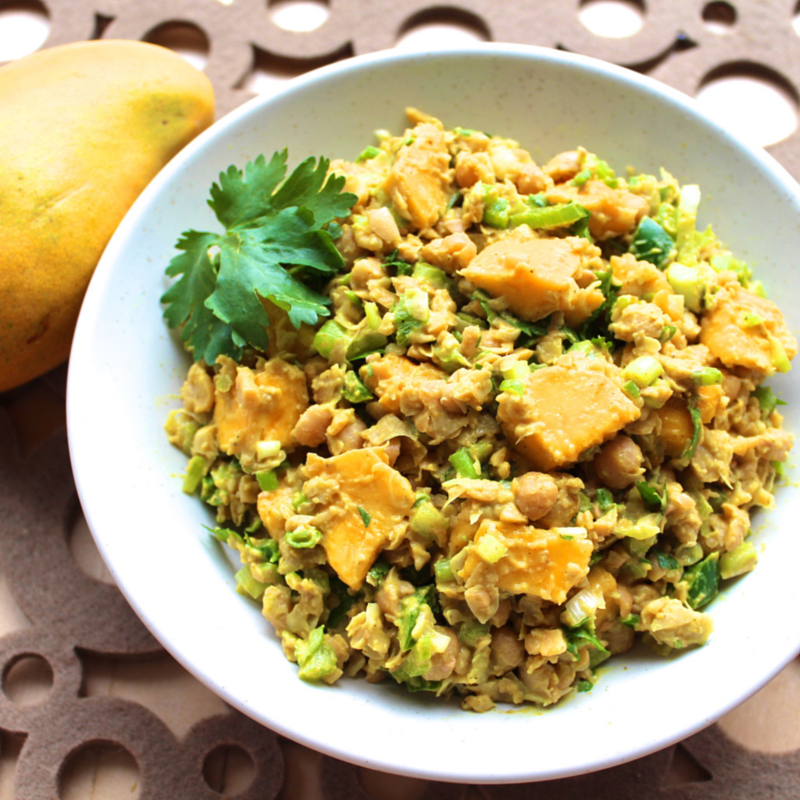 Curried Mango Chickpea Salad