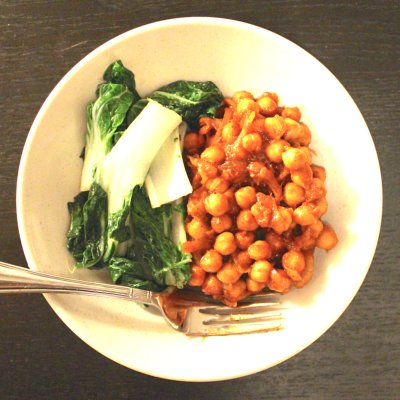 Easy Tomato Chickpea Curry
