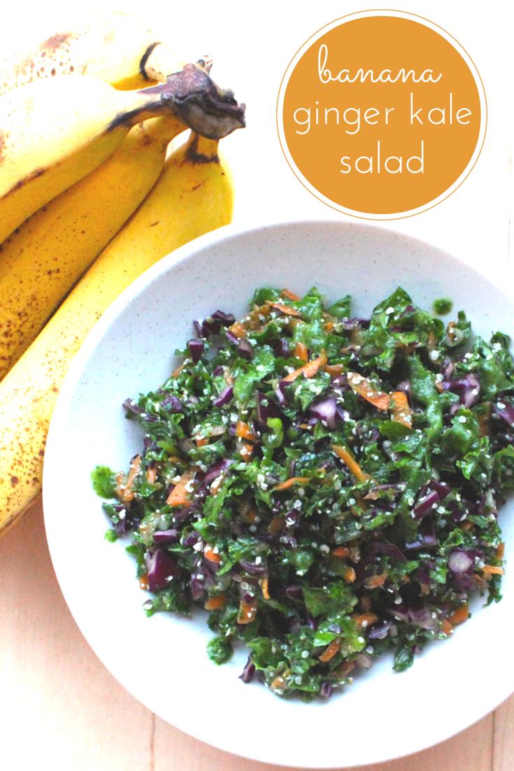 Kale Salad With Banana-Ginger Dressing