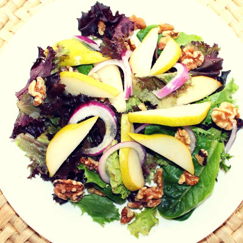 Pear and Walnut Salad With Apple Vinaigrette