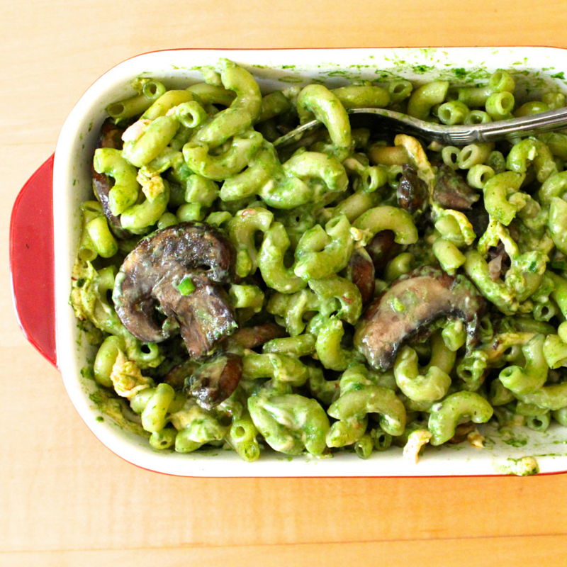 Spicy Spinach Vegan Mac and Cheese