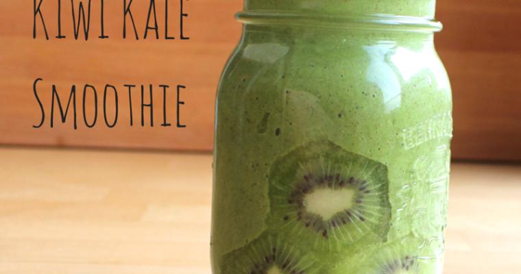 Strawberry Kiwi Kale Smoothie