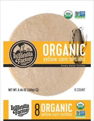 Organic Yellow Corn Tortilla Factory Tortillas