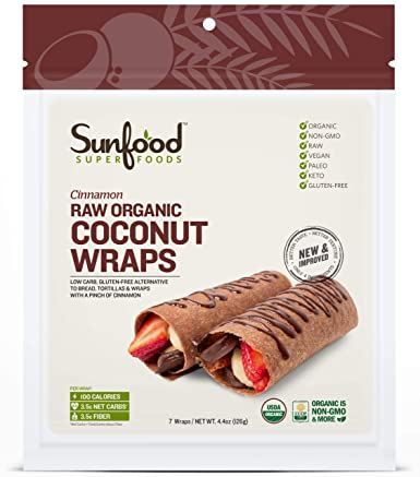 Raw Organic Coconut Wraps
