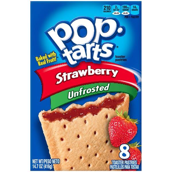 Unfrosted Strawberry Pop Tarts